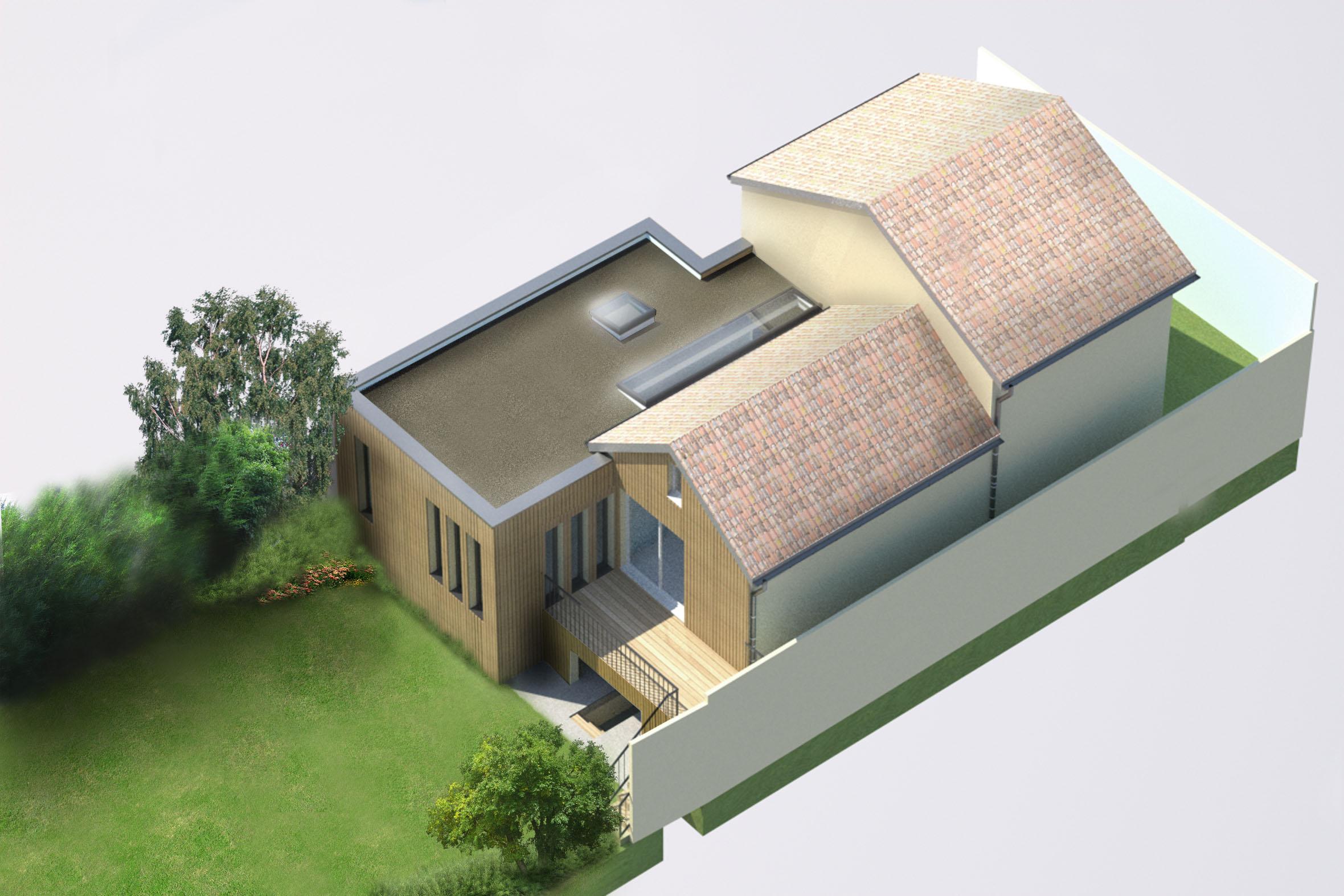 Tekart architecture architectes associ s concepteur de for Extension maison bois 94