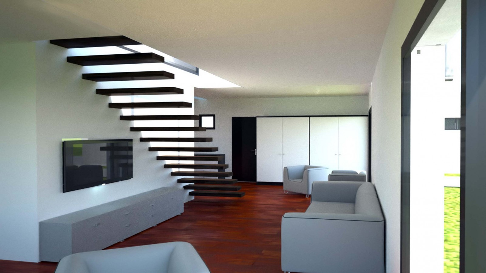 interieur maison cube. Black Bedroom Furniture Sets. Home Design Ideas