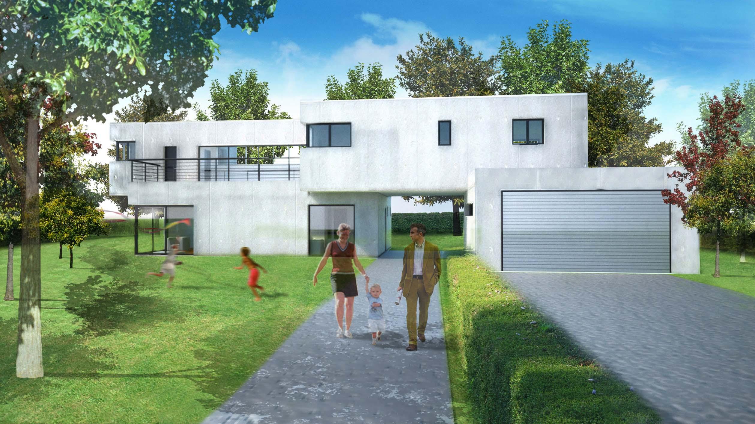 Maison bois contemporaine seine et marne for Constructeur maison bois contemporaine 77