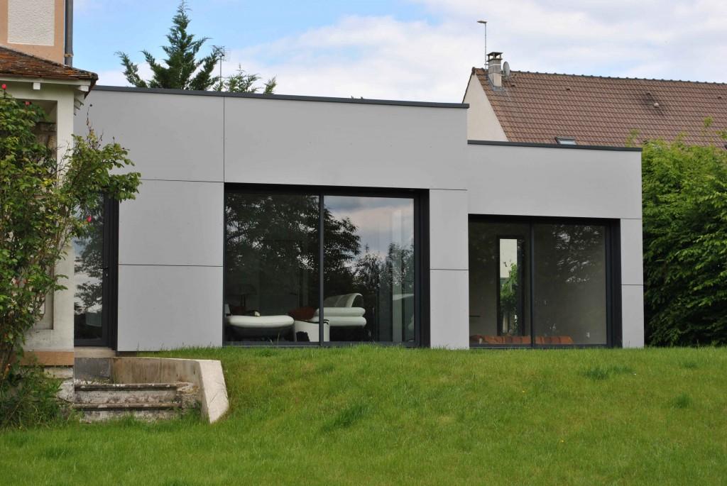 extension de maison ossature bois - Constructeur Maison Contemporaine Toit Plat Avec Pasio