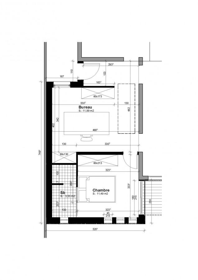 plan extension maison plan des facades et toitures architecte extension maison 18 en. Black Bedroom Furniture Sets. Home Design Ideas