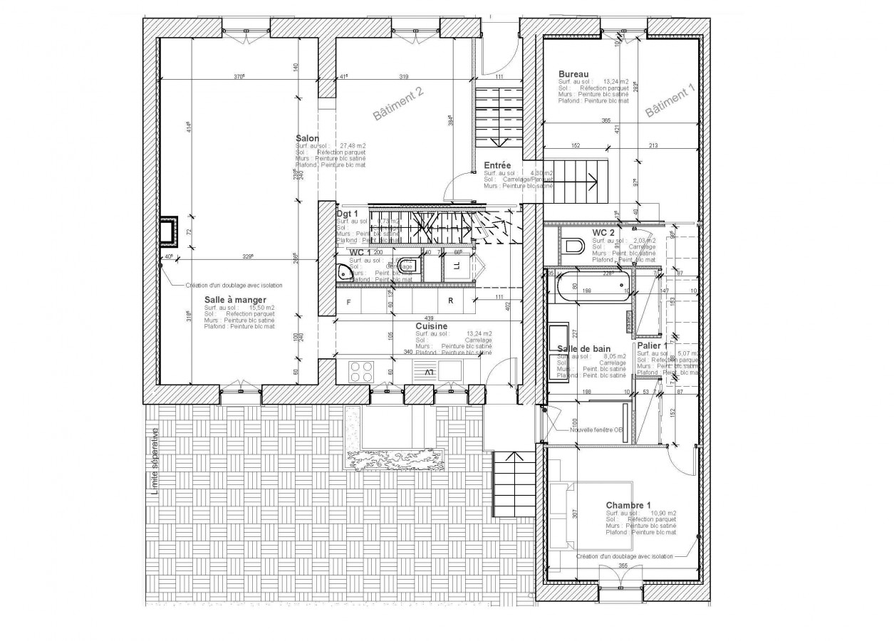 Tekart architecture architectes associ s concepteur de - Plan renovation maison ...