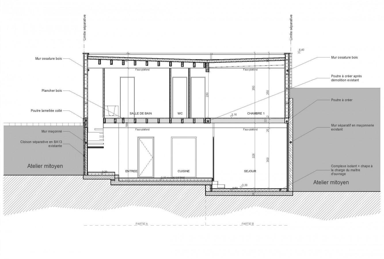 Connu Coupe D'une Maison Ossature Bois – Maison Moderne DB13