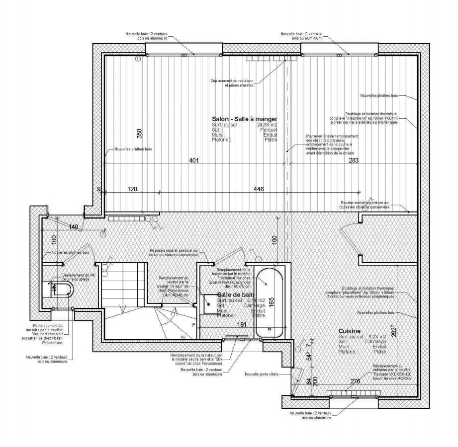 plan maison meuliere
