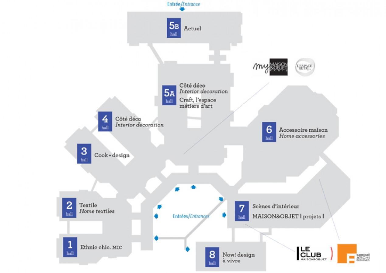 Plan Maison & Objet 2014